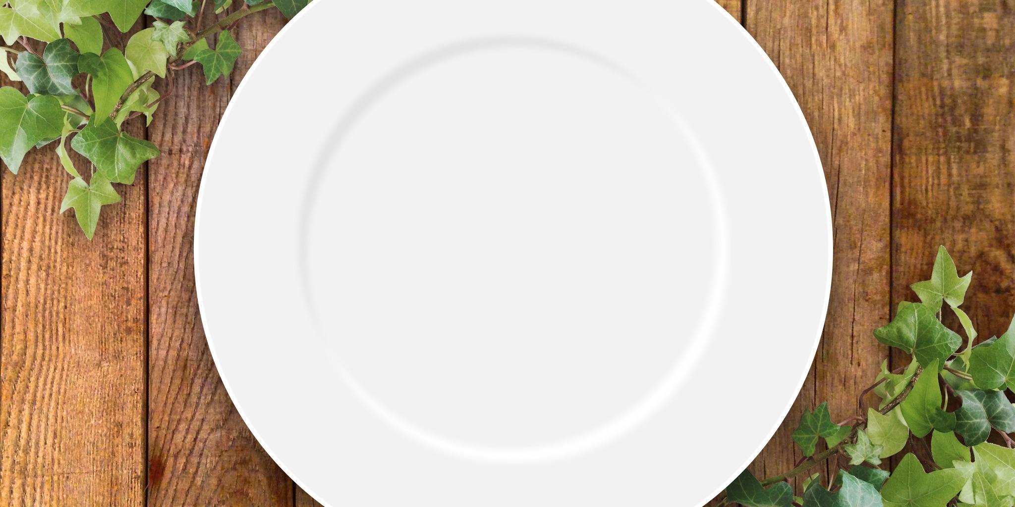 テーブルとお皿